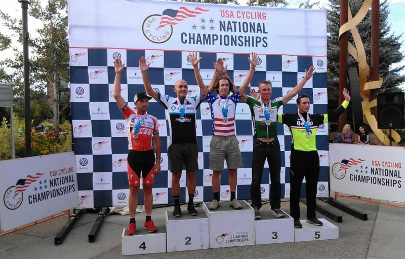 Paul Thomas on the Podium at Masters Nationals