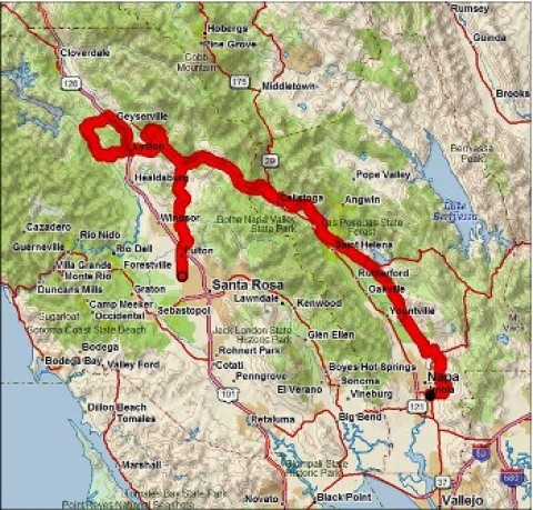 "MS150 ""Waves to Wine"" in Napa, CA"